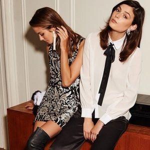 Alice + Olivia CLYDE ALINE SHIFT DRESS in black